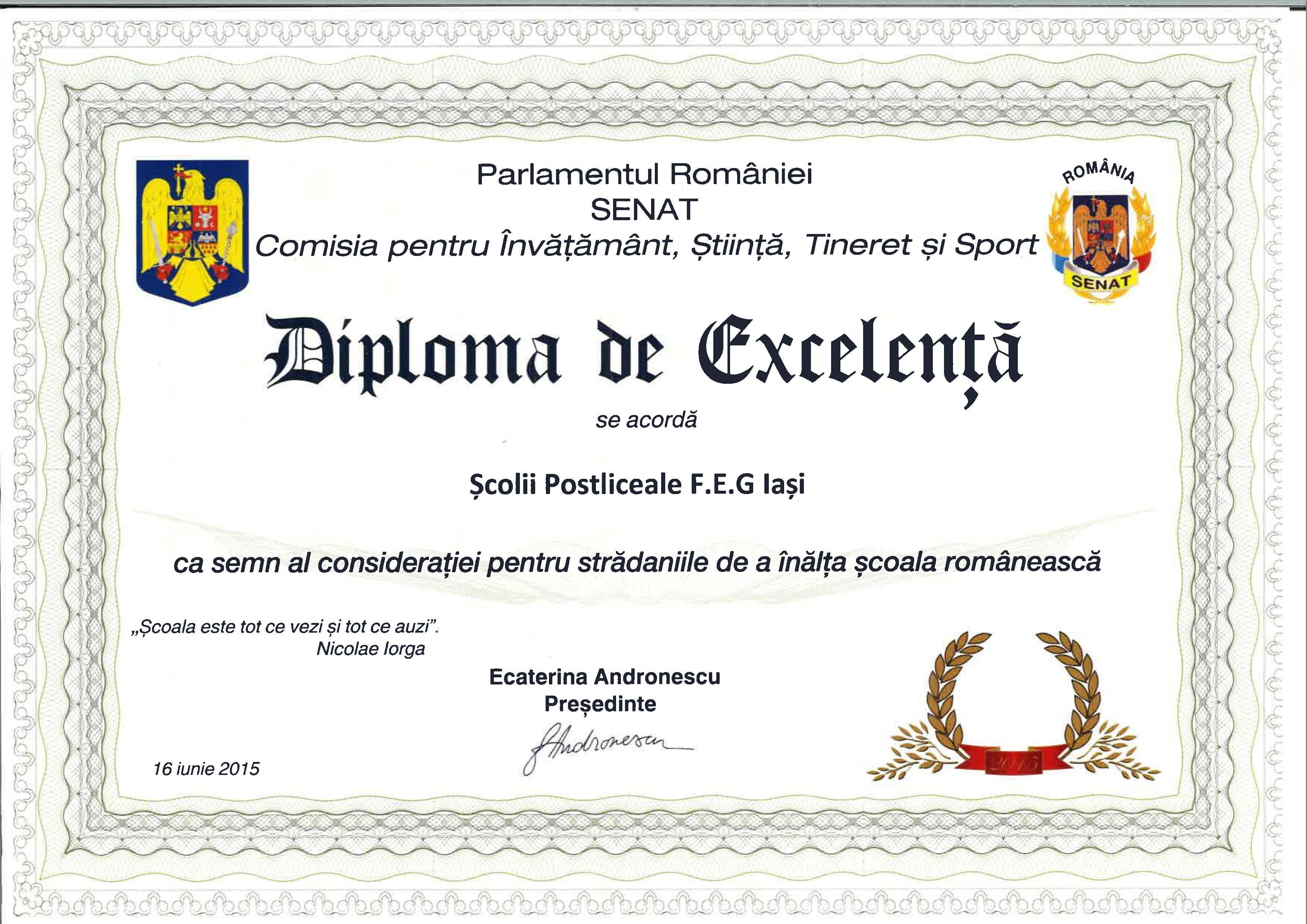 diploma excelenta